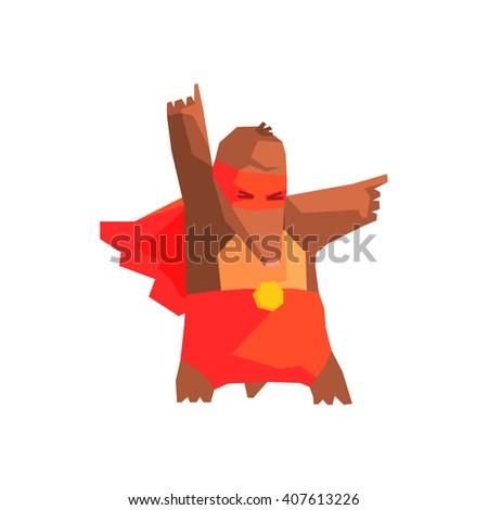 mole super hero character flat