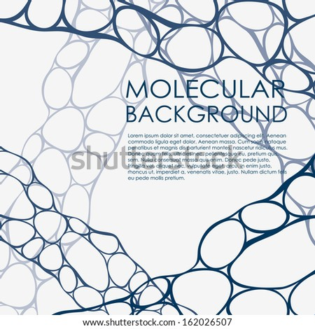 Molecular and Communication Background. Vector illustration.