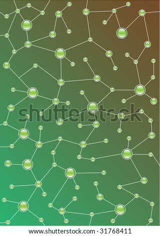 molecular background - vector