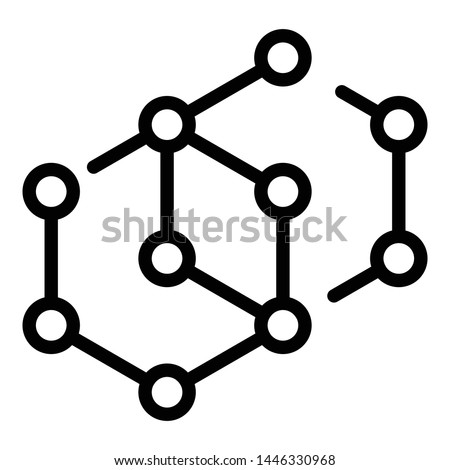 Molecular compound icon. Outline molecular compound vector icon for web design isolated on white background