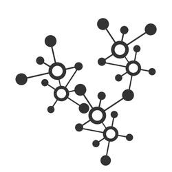 molecular or digital network connection pattern