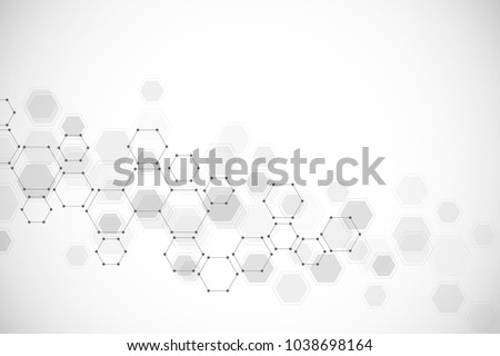 Molecular structure background. Hexagon vector background. Science, technology and medical concept. Vector illustration