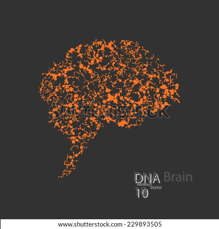 Molecular structure in the form of brain vector elegant illustration