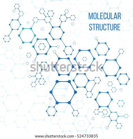 Molecular structure or molecular structural coding vector elements. Illustration of molecular connection genome