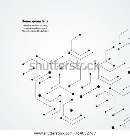Molecular structure pattern background. Vector technology design.