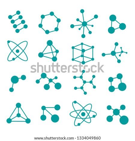 molecular structure set. vector illustration