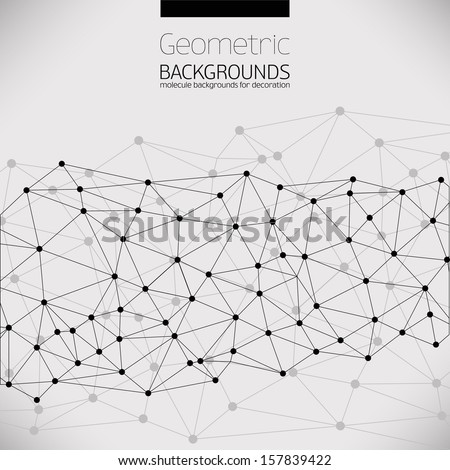 Molecule And Communication Background. Vector Illustration, Graphic Design Useful For Your Design
