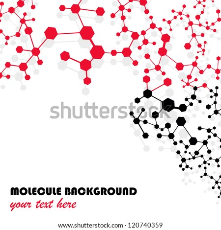 Molecule And Communication Isolated On White Background - Vector Illustration, Graphic Design Useful For Your Design