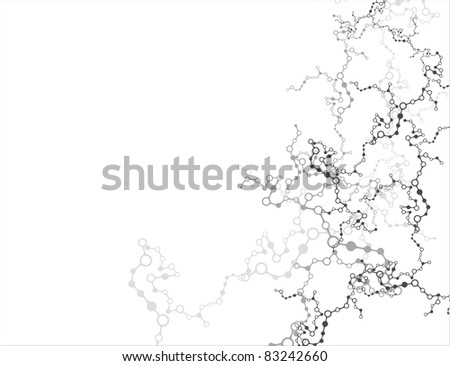 Abstract Molecules Frame Vector Background