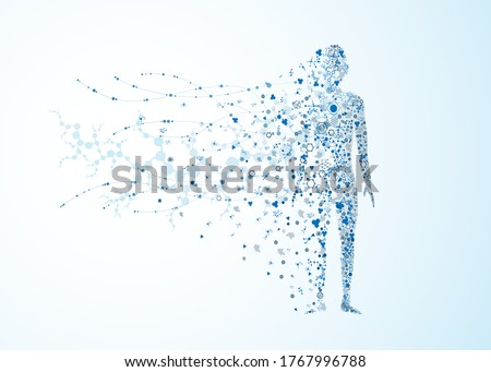 molecule body concept of the human DNA vector chemistry science illustration Foto stock ©