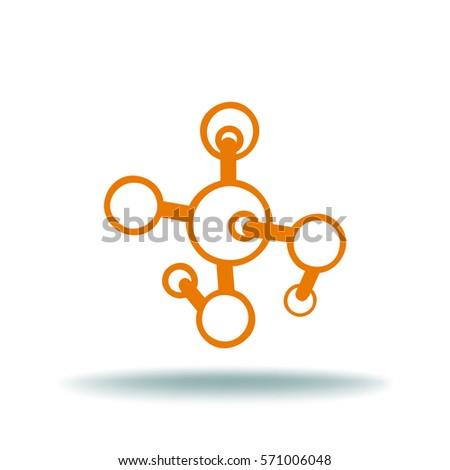 molecule flat vector icon