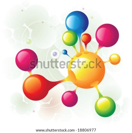 molecule group - stock vector