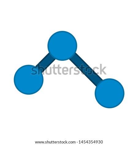 molecule icon. flat illustration of molecule. vector icon. molecule sign symbol