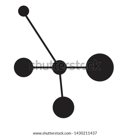 Molecule icon. Molecule black isolated vector illustration
