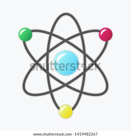 molecule icon, molecule symbol, vector molecule image, science, chemistry.