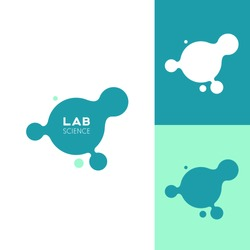 Molecule. Icon or logo template for medicine, science, laboratory,. Mockup symbol for corporate branding identity. Technology label inspiration for advertising, business, web design.