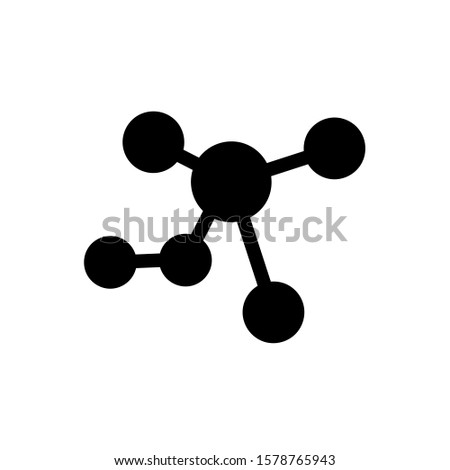Molecule icon, vector illustration. Flat design style. vector molecule icon illustration isolated on white, molecule icon Eps10. molecule icons graphic design vector symbols.