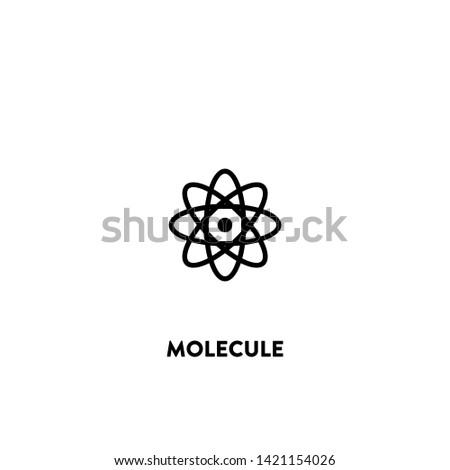 molecule icon vector. molecule sign on white background. molecule icon for web and app