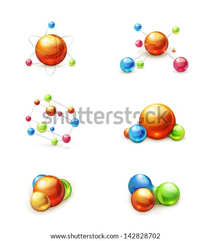 molecule icon vector set #142828702
