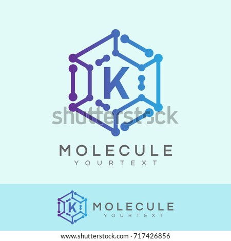 Stock Photo molecule initial Letter K Logo design