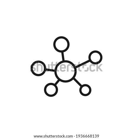Molecule line icon. DNA outline symbol. Atom connection concept. Vector isolated on white Stockfoto ©
