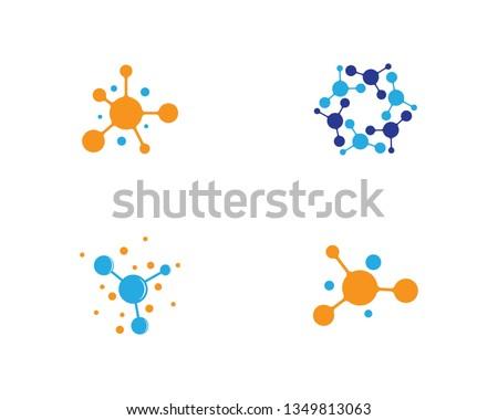 Molecule logo template vector icon
