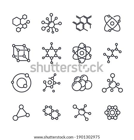 Molecule set icon template color editable. Molecule pack symbol vector illustration for graphic and web design.