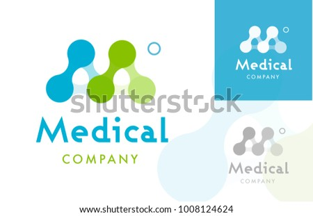 Molecule Shaping M letter , Logo / Icon Stock fotó ©