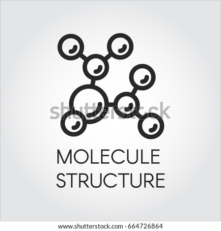 molecule stucture linear icon