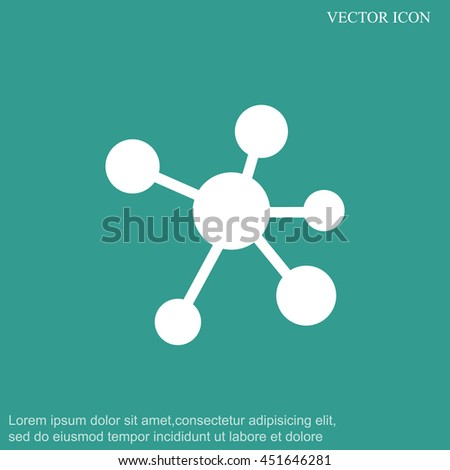 Molecule vector icon