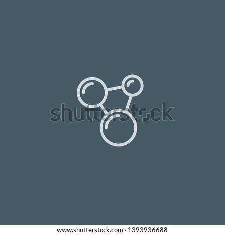 Molecules vector icon. Molecules concept stroke symbol design. Thin graphic elements vector illustration, outline pattern for your web site design, logo, UI. EPS 10.