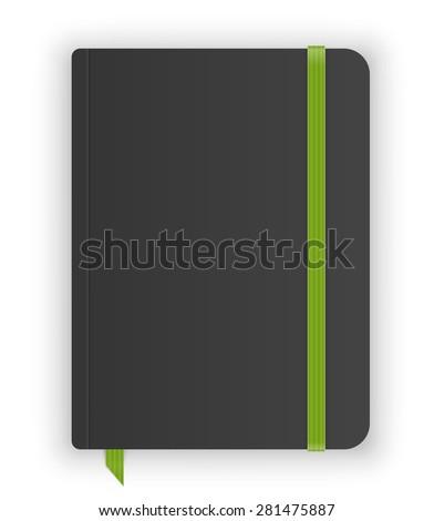 Moleskin notebook vector image