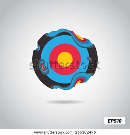 molten target in zero gravity