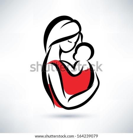 Mother and child logo designer
