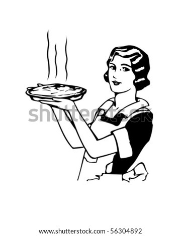 stock vector : Mom's Apple Pie - Retro Clip Art