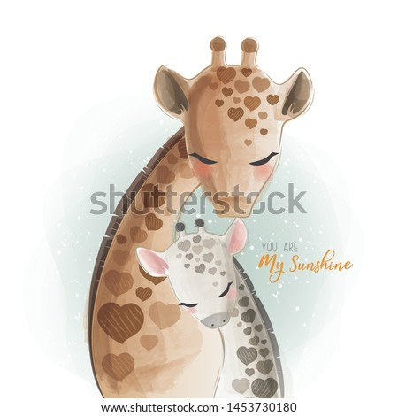 Mommy and Baby Giraffe - You Are My Sunshine