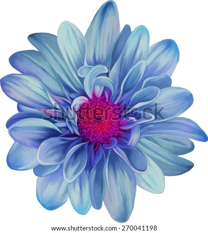mona lisa flower  blue flower
