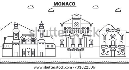 monaco architecture line