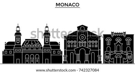monaco architecture vector city