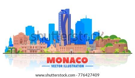 monaco city skyline with