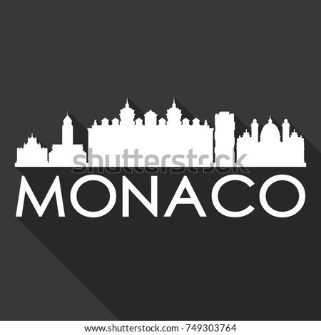 monaco flat icon skyline