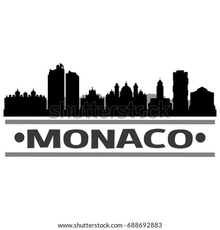 monaco skyline silhouette city