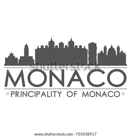 monaco skyline silhouette