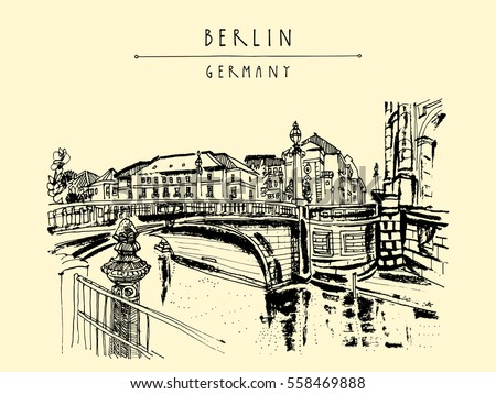 monbijou bridge in berlin ...