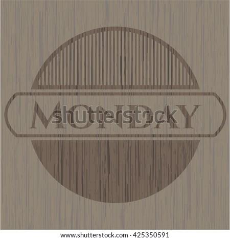 Monday retro wood emblem