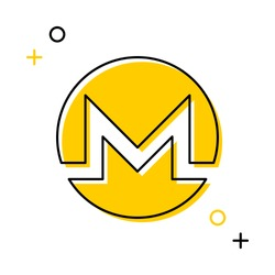 monero cryptocurrency thin line icon on white background. trendy financial flat vector illustration easy to edit and customize. eps 10