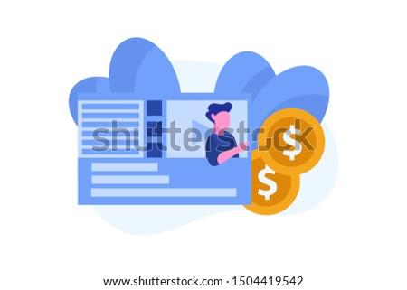 monetization. make money online concept vector illustration concept for web landing page template, banner, flyer and presentation