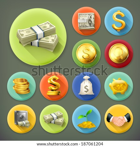 money and coins  business and...