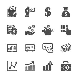 money and finance icon set, vector eps10
