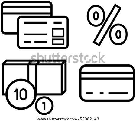 Money and finance, plastic cards, credit cards - Vector illustration